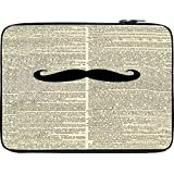 Snoogg Newspaper I Mustache You 12 To 12.6 Inch Laptop Netbook Notebook Slipcase Sleeve