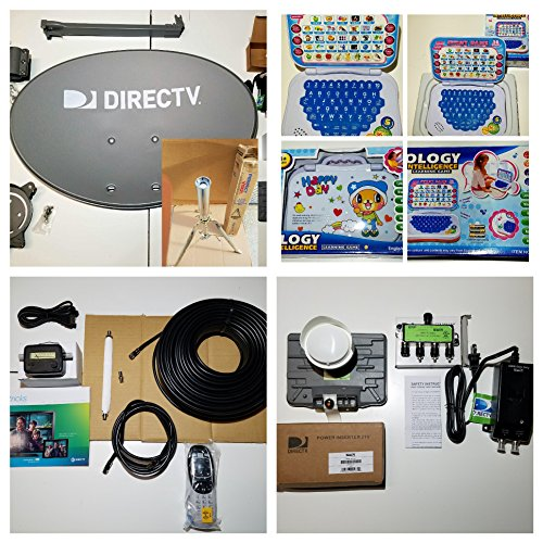 2016 Directv Swm 3 Dish Kaku Slimline 13 Tuner Last Test Come 100 Ft Wire Black w/ End Ppc Fitting Xl Plus Free Learning Game, Signal Finder Full Hd Cable (Directv Rv Satellite compare prices)
