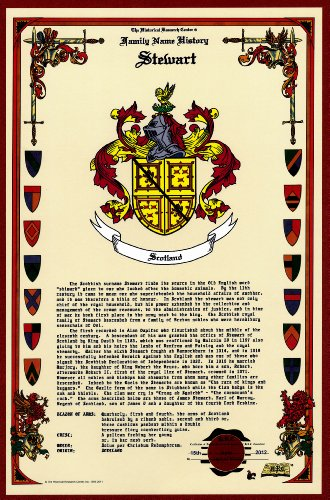 Stewart Coat Of Arms/Crest And Family Name History, Meaning & Origin Plus Genealogy/Family Tree Research Aid To Help Find Clues To Ancestry, Roots, Namesakes And Ancestors Plus Many Other Surnames At The Historical Research Center Store front-785695