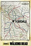 GB eye The Walking Dead Terminus Map Maxi Poster, Multi-Colour