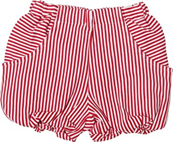 SOSOOKI Baby Girl's High Waisted Bubble Short Red Size 0 6-12 Months