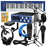 PreSonus AudioBox USB Music Creation Suite BUNDLE w/ Microphones, Stands, Cables, MIDI Keyboard, Headphones, & Software