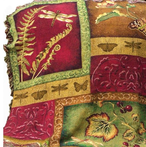 Manual Flora And Fauna Collection Fringed 50 X 60-Inch Tapestry Throw front-1045182