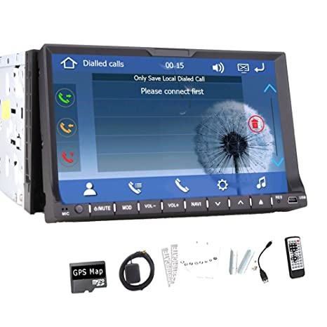 "En el tablero de 7 ""GPS del coche FM / AM de DVD Reproductor de CD WinCE 8 UI Auto Double 2 Din pantalla tš¢ctil numšŠrique de RDS estšŠreo 7 pulgadas de coches de la radio AUX USB SD AV En Aux In Dash Bluetoot"