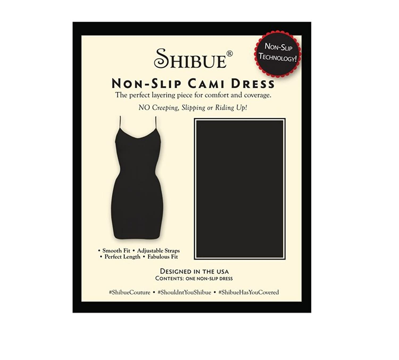 Shibue Couture Non-Slip Cami Dress – Formendes Unterkleid – Farbe Schwarz, Größe L online bestellen