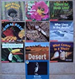 img - for Science Emergent Early Readers: Set of 10 Books (Where Do Insects Live? ~ Who Beats the Heat? ~ Where Do Birds Live? ~ What Comes in a Shell? ~ Who Lives in the Arctic? ~ Homes in the Ground ~ Who Lives in the Rain Forest? ~ Desert ~ Coral Reef ~ Birds) book / textbook / text book