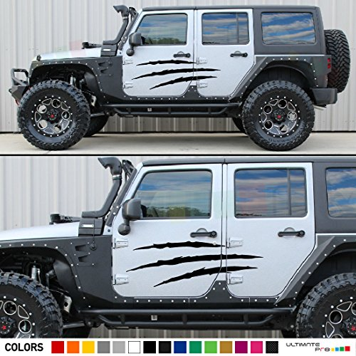 JK Jeep Wrangler Door Claw Scratches Decal Sticker