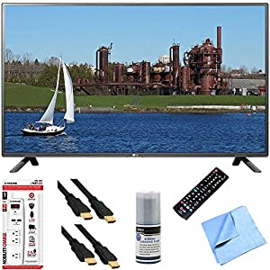 32LF5600 - 32-Inch 1080p 60Hz LED HDTV Plus Hook-Up Bundle. Includes TV with Remote, 3 Outlet Surge Protector with USB Ports, 2 x High-Speed HDMI Cable with Ethernet 6 ft., Performance TV/LCD Screen Cleaning Kit, and More