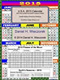 2015 U.S.A. Calendar With Moon Phase Table