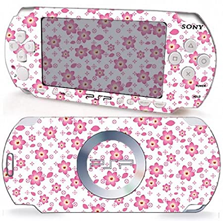 LV CHERRY BLOOSOM Design Sony PSP 3000 Slim Vinyl Skin Decal Cover Sticker Protector (Matte Finish)+ Free Screen Protector