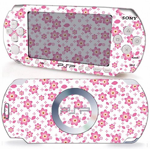 LV CHERRY BLOOSOM Design Sony PSP 2000 Slim Vinyl Skin Decal Cover Sticker Protector (Matte Finish)+ Free Screen Protector