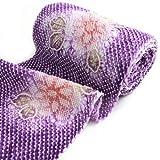 有松鳴海絞しぼり浴衣反物「紫地に総絞り紫陽花」一級和裁技能士の国内手縫いお仕立て付絞りゆかたパープルあじさいアジサイ