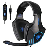 SADES SA819 Gaming Headset Headphone Wired 3.5mm Over-Ear with Mic Volume Control for PC/XboxOne/PS4