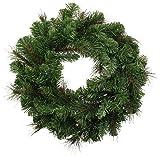 WeRChristmas 1.7 ft/ 51 cm Large Victorian Pine Christmas Wreath Decoration