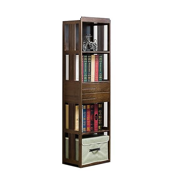 XIAOXIAO Retro scaffale di bambù di arte 3 strati di scaffale per libri con lo scaffale di studio di stoccaggio dei cassetti Facile da spostare ( dimensioni : 70*28*149CM )