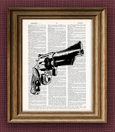 smith-and-wesson-revolver-gun-beautifully-upcycled-dictionary-page-book-art-print-85-x-11