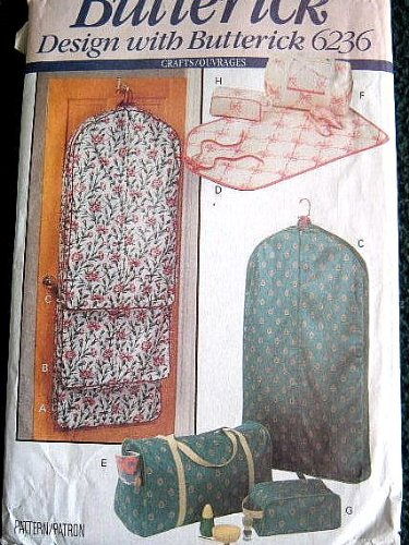 GARMENT BAGS, TOTES & ACCESSORY CASES BUTTERICK DESIGN WITH BUTTERICK SEWING PATTERN 6236
