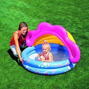 Bestway Sunshade Baby Paddling Pool. 142cm x 86cm(h)