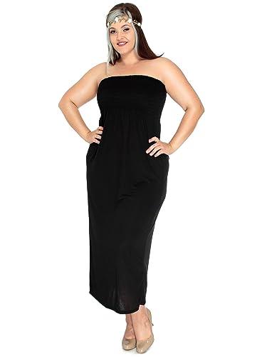 Plus size tube maxi dress « Clothing for large ladies