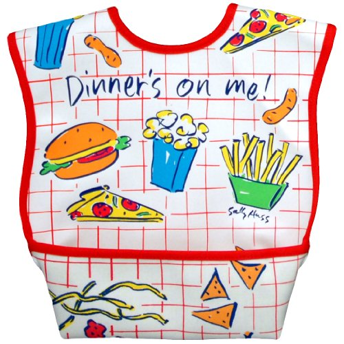 Dex Dura Bib Large for ages 6 - 24 Months - Dinner's on Me - 1