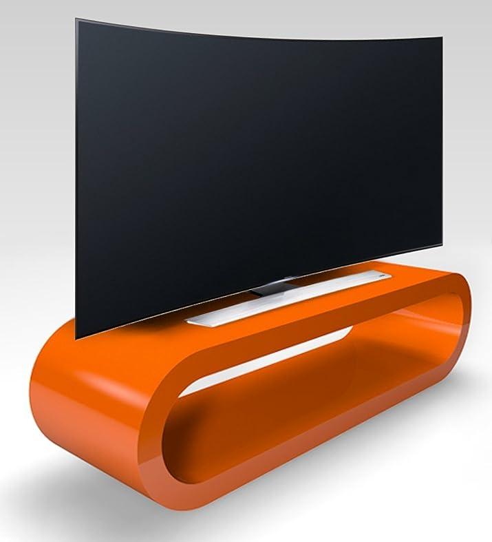 Stile Retrò Cerchio Grande Arancio Lucido Porta Tv / Armadietto 110 cm
