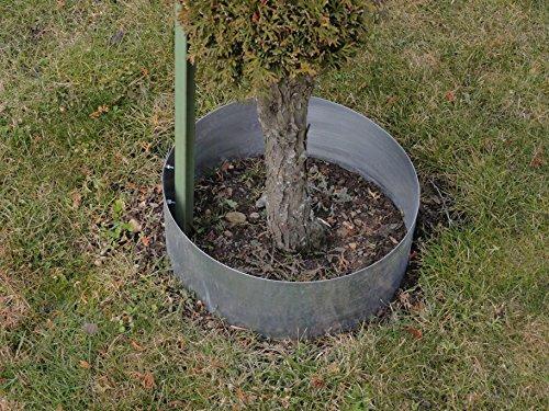 Rasenkanten Baumring aus Metall durchm. 75 cm x 17,5 cm - 1er Set