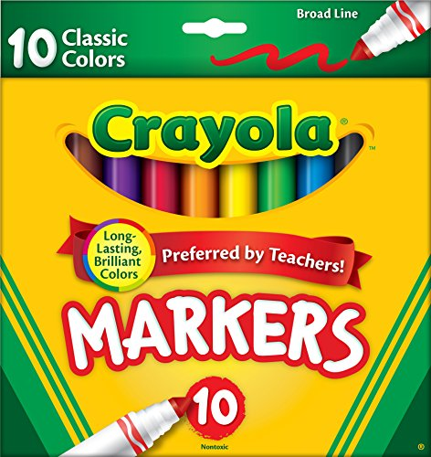 Crayola 10 Ct Classic Broad Line Markers(Discontinued by manufacturer) (Monster Hot Deals compare prices)