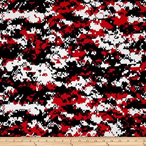 Urban Camouflage Red/Black Fabric By The Yard (Digital Camouflage Fabric compare prices)