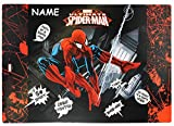 Toy - Schreibtischunterlage Spiderman - mit NAMEN - 60 cm * 40 cm - PVC Unterlage / Knetunterlage / Schreibunterlage / Tischunterlage Spider Man Amazing Action Spinne