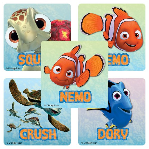 Disney Finding Nemo Stickers - Party Favors - 75 per Pack