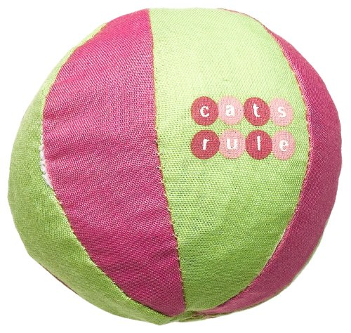 Cats Rule Catnip Toy – Pink/Lime Beach Ball