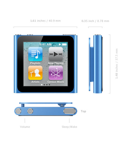 61nyGj5splL Apple MC525LL/A iPod Nano 8GB in Silver (Newest Generation)   $130 + Free Shipping
