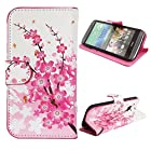 myLife (TM) Pink + Pearl White Cherry Blossom Branches {Graphic Design} Faux Leather (Card
