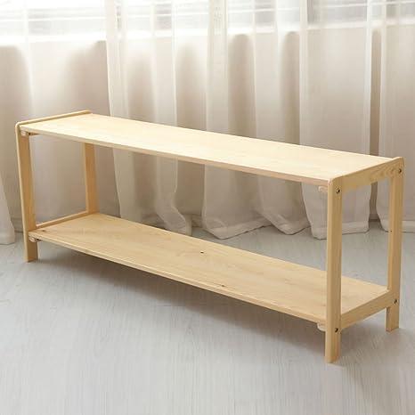 HJHY® Libreria libreria 1200 * 300 * 450 Mm Due strati scaffale per giocattoli in legno massiccio per bambini Comodo spazio di archiviazione
