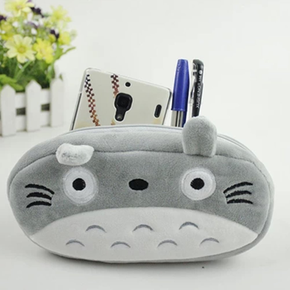 Miyazaki Hayao My Neighbor Totoro Anime Cute Makeup Bag Pencil Case Pen Pouc hot miyazaki hayao anime totoro backpack cosplay fashion luminous canvas bag schoolbag travel bags