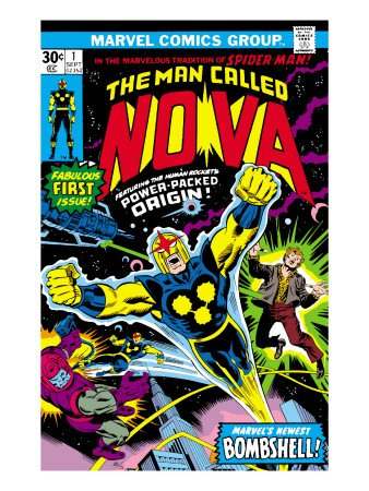 Nova: Origin Of Richard Rider - The Man Called Nova No.1 Cover: Nova Art Poster Print by John Buscema, 18x24