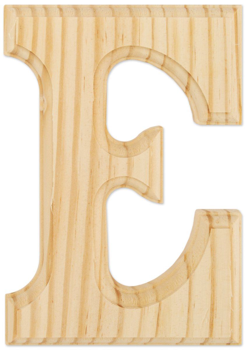 wood craft wood letters 6 single letter e too cheap. Black Bedroom Furniture Sets. Home Design Ideas