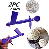 LOVEER Cake Pearl Applicator Set of 2, Two Size Cake Pearls Applicator for Fondant Extruder Sugarcraft Cake Decorating Tools (7 Inch One Large Size + One Small Size) (Color: 7 Inch One Large Size + One Small Size, Tamaño: Two Large Size)