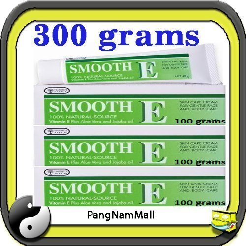 Smooth E Cream Anti Aging Wrinkles Vitamin E Aloe Vera Scars Acne Spot Mark (100 G.X3) Made In Thailand