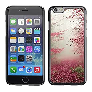 Omega Covers - Snap on Hard Back Case Cover Shell FOR Iphone 6/6S (4.7 INCH) - Autumn Leaves Red Fall Nature Trees Forest