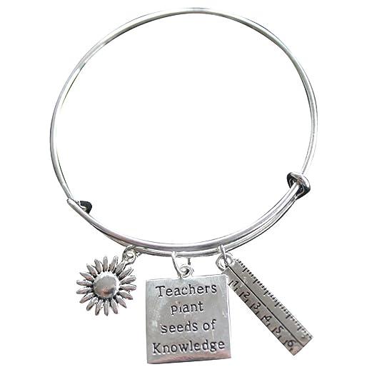 Teacher Bangle Bracelet-Teacher Gift, Show Your Teacher Appreciation