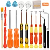E.Durable Triwing Screwdriver for Nintendo, 18in1 Professional Full Tri wing Security Screwdrivers Gamebit Repair Tool Kit for Nintendo Switch JoyCon New 3DS/Wii/NES/SNES/DS Lite/GBA/Gamecube (18in1) (Color: Coup124, Tamaño: 18in1)