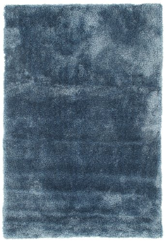 Viva 14639 Shaggy Soft Silk Tappeto, 60 x 120 cm, Blue