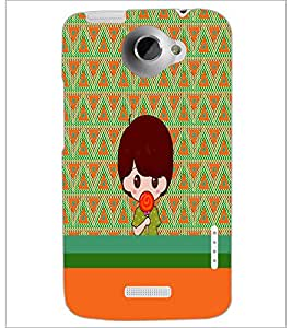 HTC ONE X BOY WITH LOLLYPOP Designer Back Cover Case By PRINTSWAG