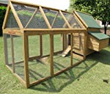Chicken Coops Imperial Marlborough Large Chicken Coop With Run Suitable For up 10 Birds With Double Nest Box - Easy Clean Leaning Tray