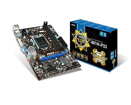 MSI 7817-019R Intel H81 Socket H3 (LGA 1150) 1 x Ethernet 4 x USB 2.0 2 x USB 3.0