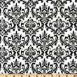 54'' Wide Premier Prints Madison Black/White Fabric By The Yard