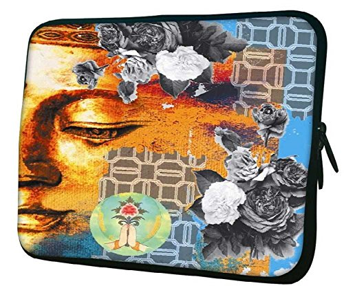 """Snoogg Buddha The Future 13"""" 13.5"""" 13.6"""" inch Laptop Notebook Slipcase Sleeve Soft Case Carrying Case for Macbook Pro Acer Asus Dell Hp Sony Toshiba"""