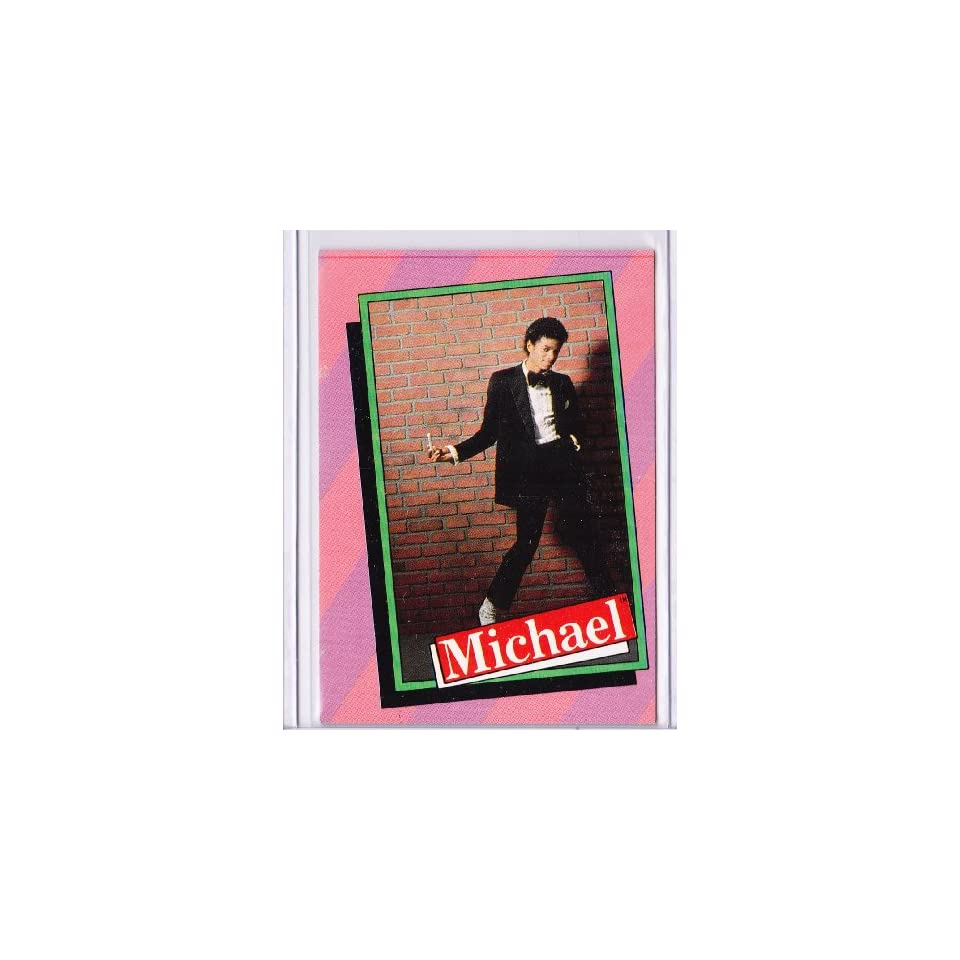 Michael Jackson 1984 Topps Trading Card #12