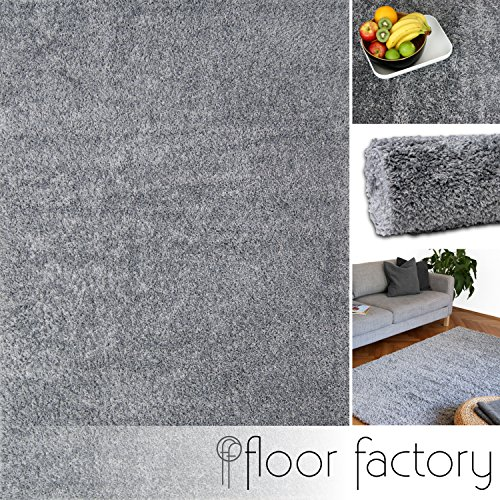 hochflor shaggy teppich colors silber grau 10x10cm muster. Black Bedroom Furniture Sets. Home Design Ideas